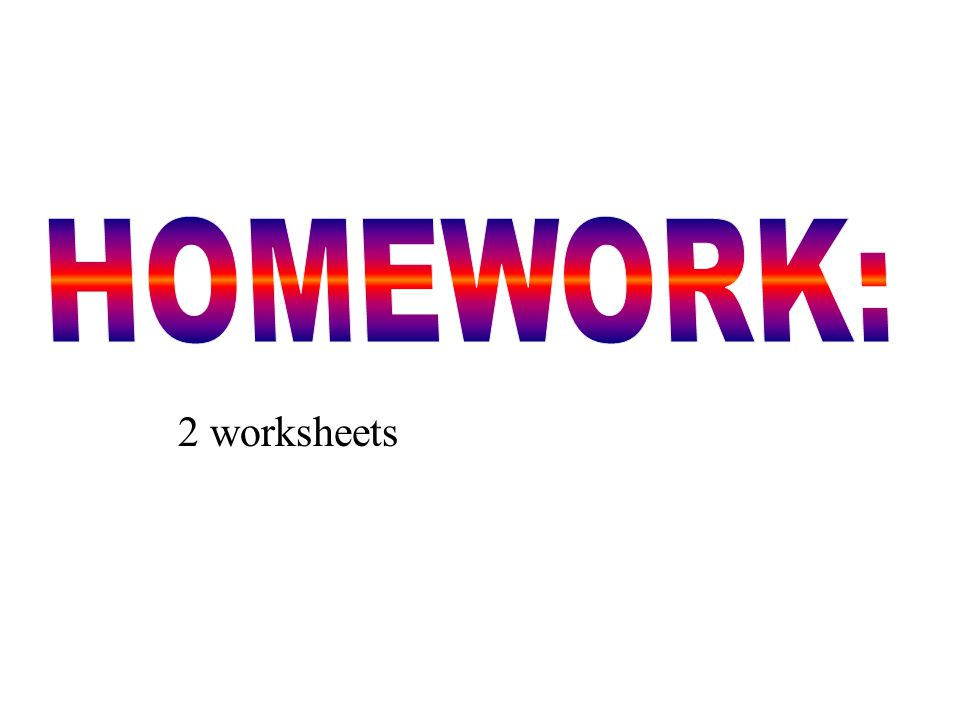 2 worksheets