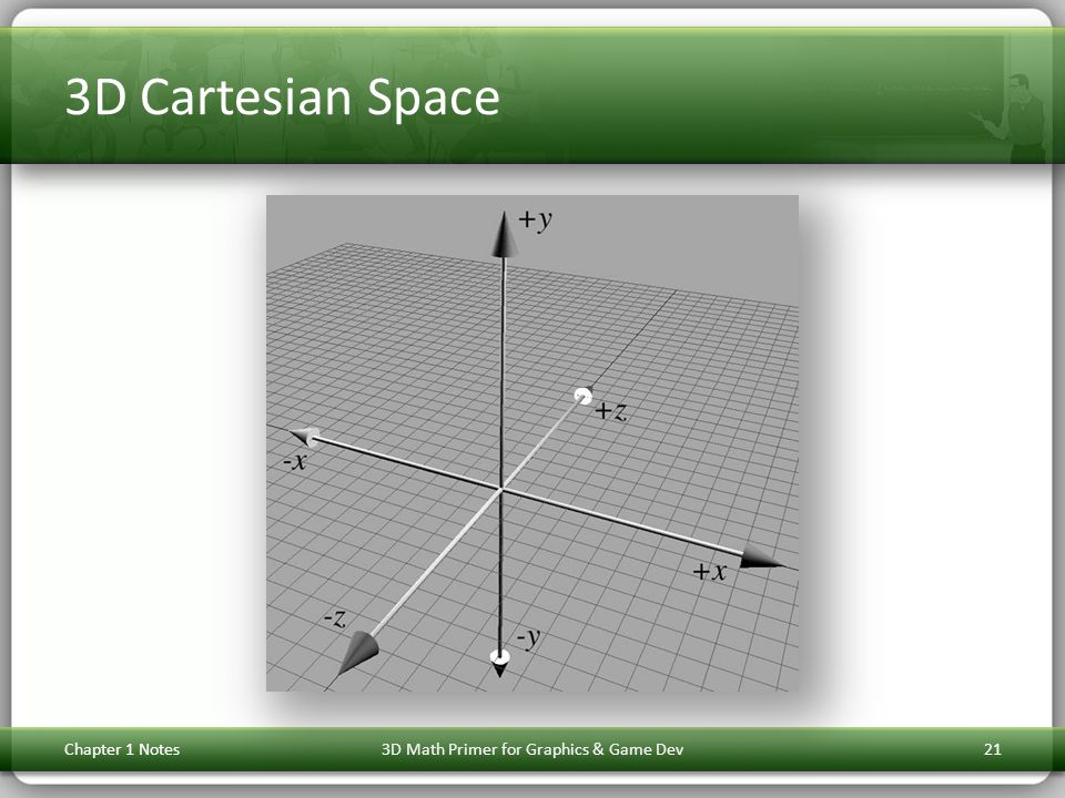 3D Cartesian Space Chapter 1 Notes3D Math Primer for Graphics & Game Dev21