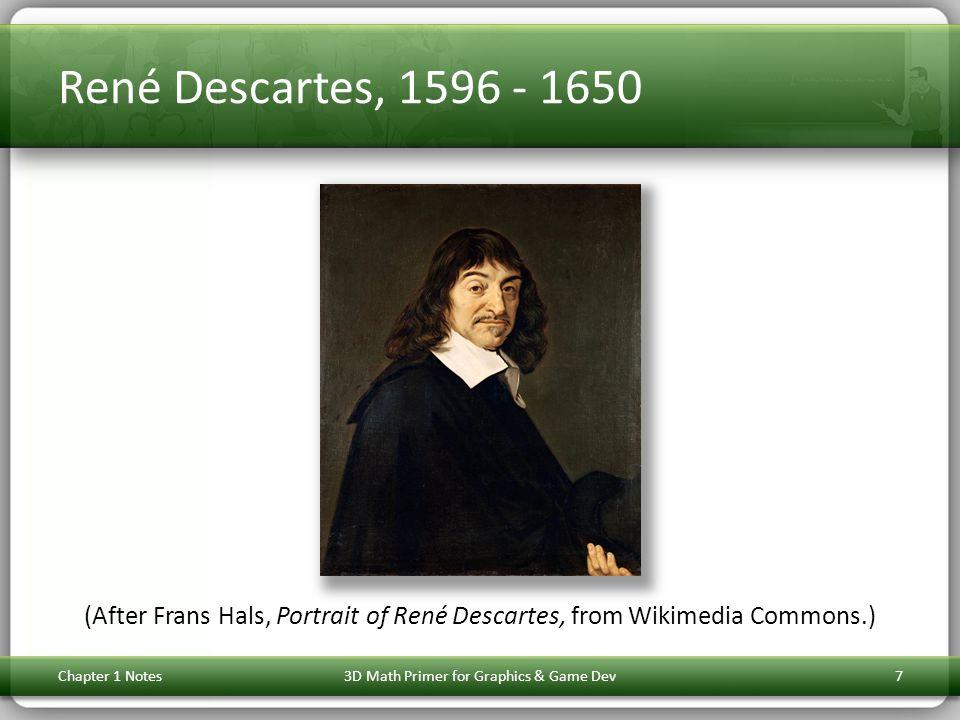 René Descartes, 1596 - 1650 (After Frans Hals, Portrait of René Descartes, from Wikimedia Commons.) Chapter 1 Notes3D Math Primer for Graphics & Game