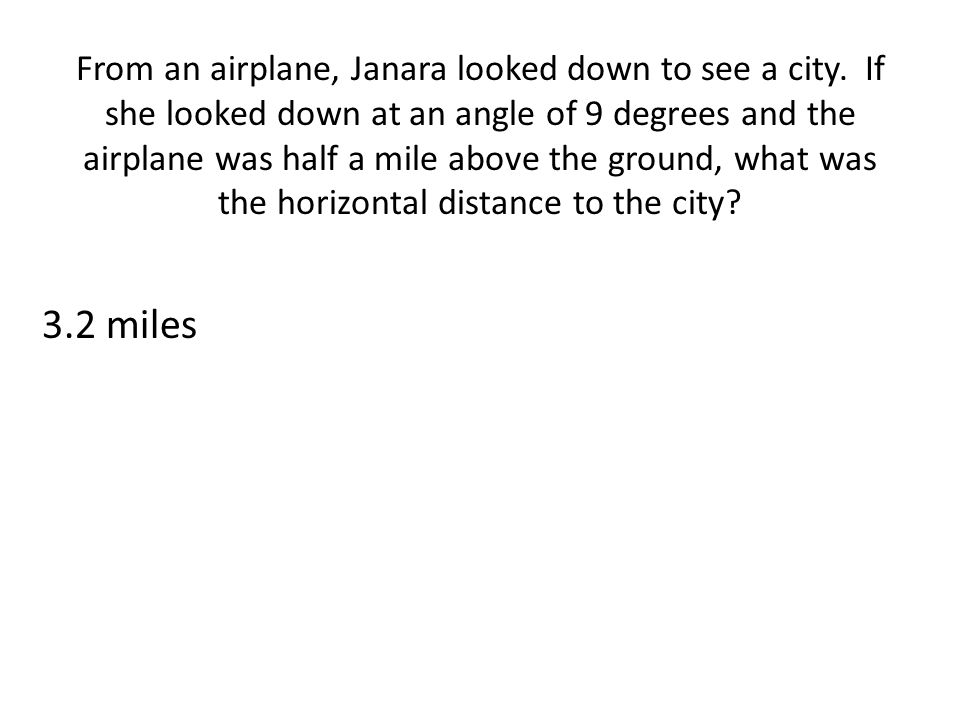 From an airplane, Janara looked down to see a city.