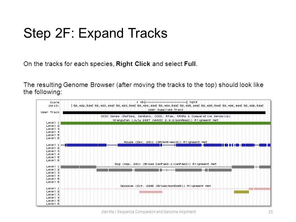 Step 2F: Expand Tracks On the tracks for each species, Right Click and select Full.