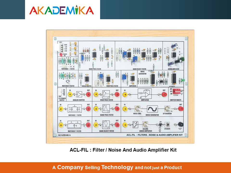 ACL-FIL : Filter / Noise And Audio Amplifier Kit