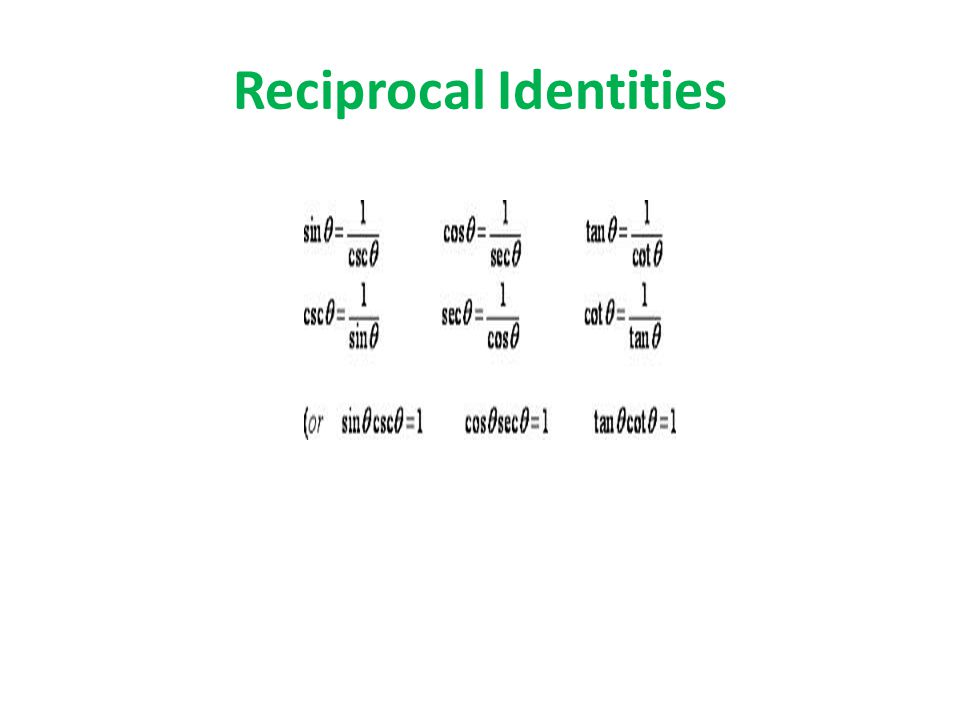 Reciprocal Identities