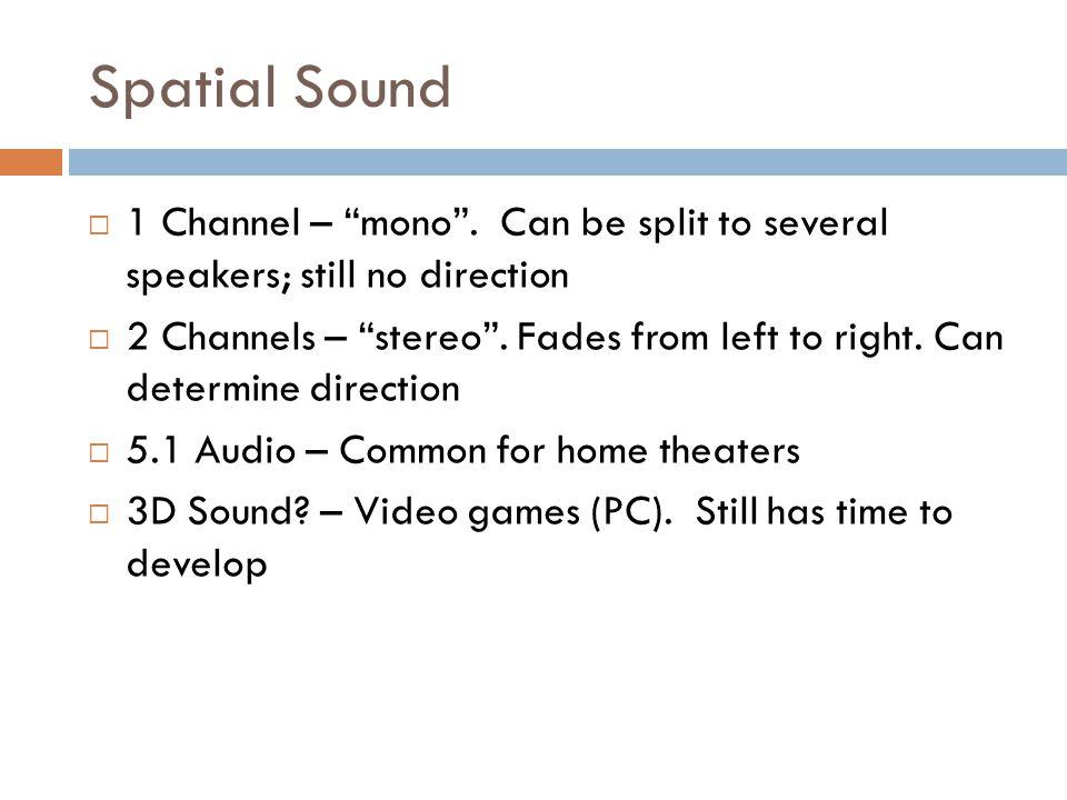 Spatial Sound  1 Channel – mono .
