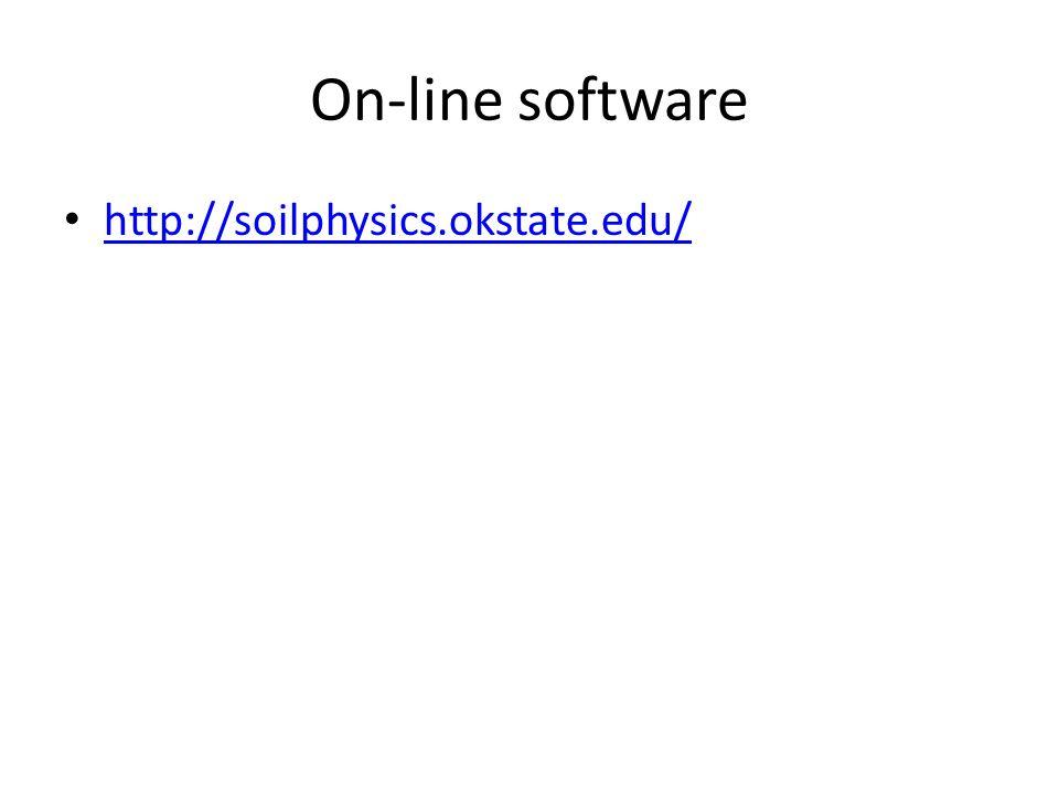 On-line software http://soilphysics.okstate.edu/