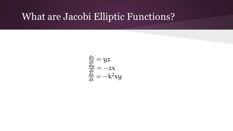 What are Jacobi Elliptic Functions?