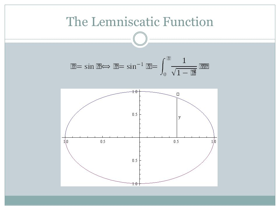 The Lemniscatic Function