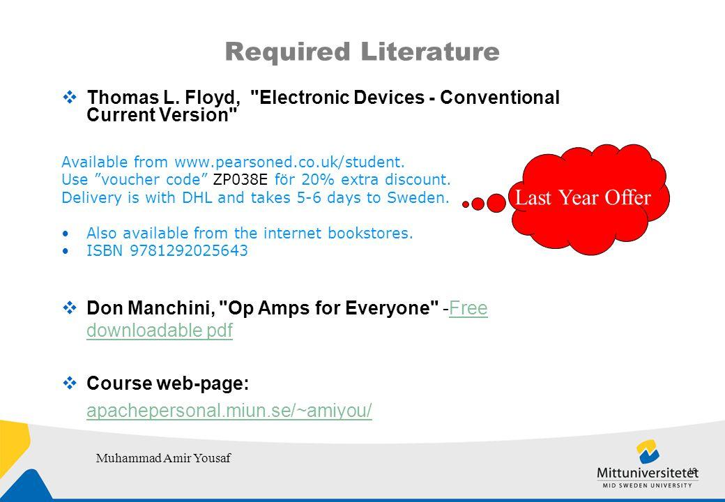 Required Literature  Thomas L.