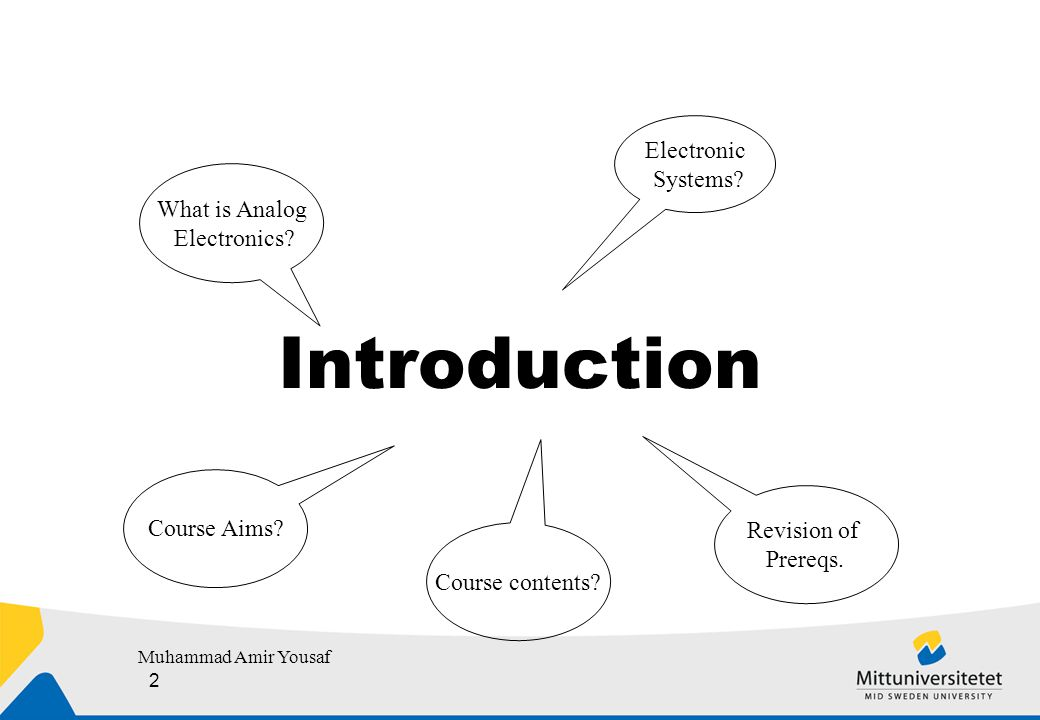 Course Plan  Prerequisites :  Electrical Engineering BA (A): Circuit Theory and Electronics, BA (A), 7.5 Credits.