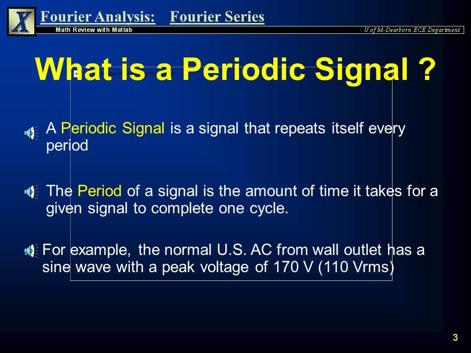Fourier Analysis:Fourier Series 2 n Periodic Signal Definition Periodic Signal Definition n Parseval's Theorem Parseval's Theorem Fourier Series n Com