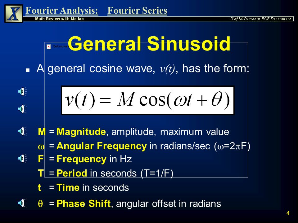 Fourier Analysis:Fourier Series 44 Note:  C n =  if C n is negative n Therefore: and Summary of Results