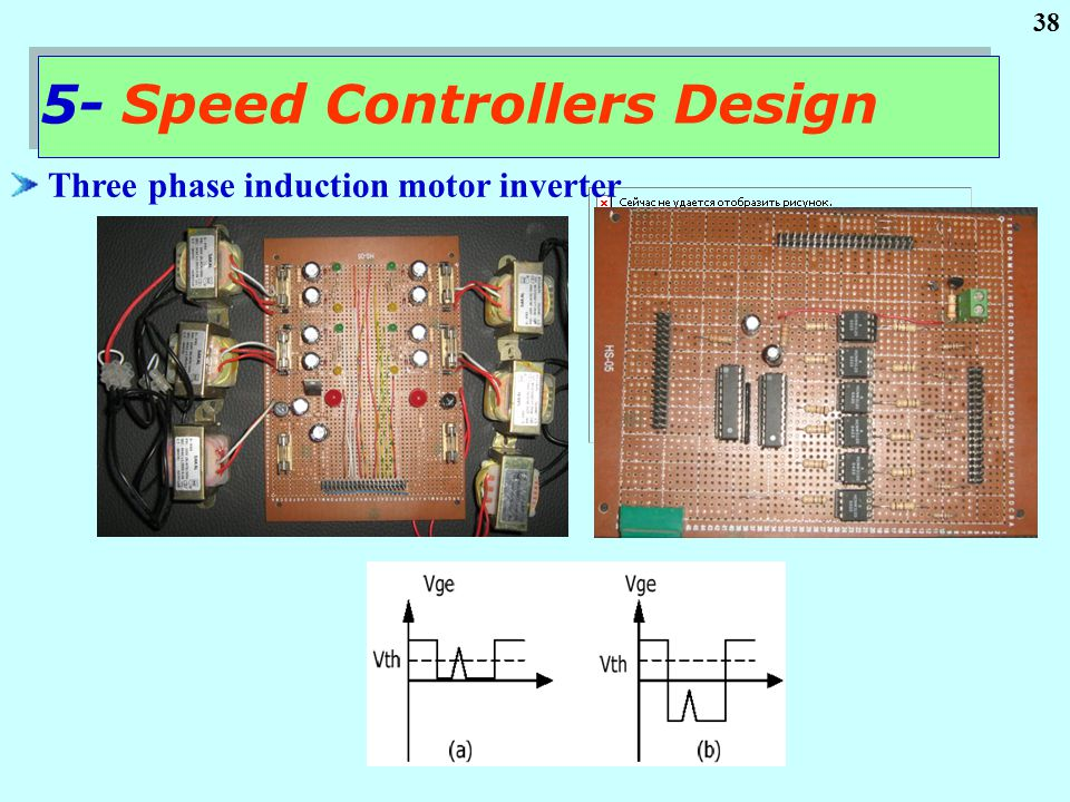 38 Three phase induction motor inverter 5- Speed Controllers Design