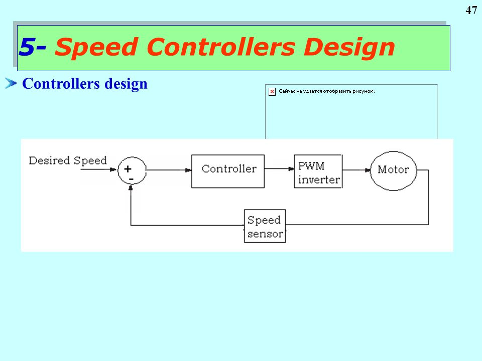 47 Controllers design 5- Speed Controllers Design