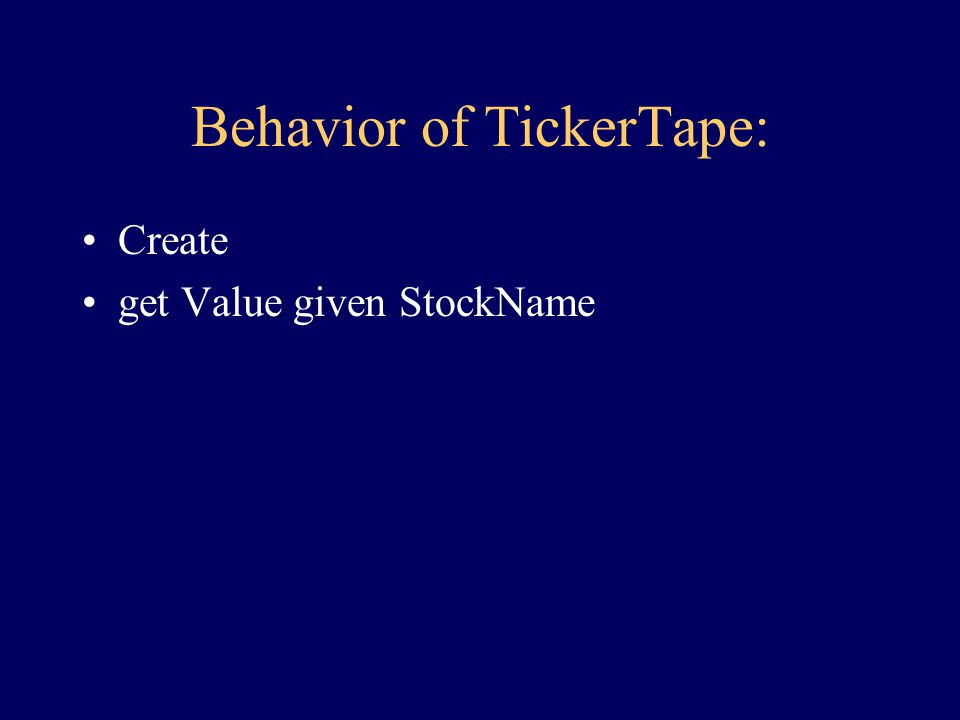 Statement of SubProblem:... skip steps because behavior, interface has been determined