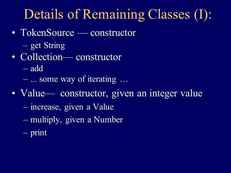 Class Summary Completed: –Portfolio –Holding –TickerTape Yet To Complete: –TokenSource –Collection –Value –Number –StockName –StockQuote