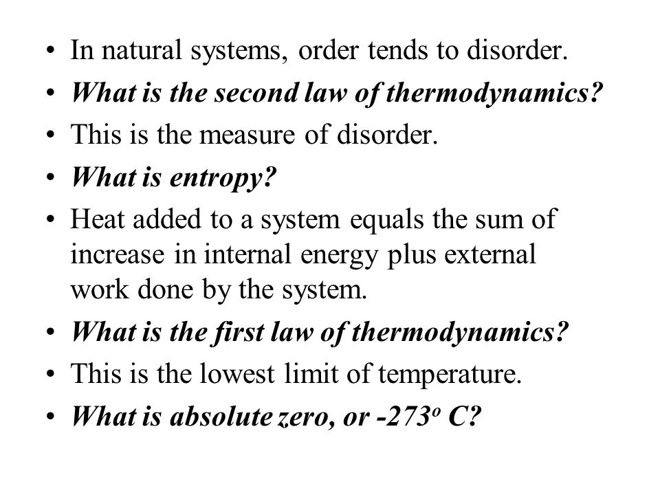 If a cold brick warmed a hot brick, this law would be violated. What is the second law of thermodynamics? This is an object which can give up heat or