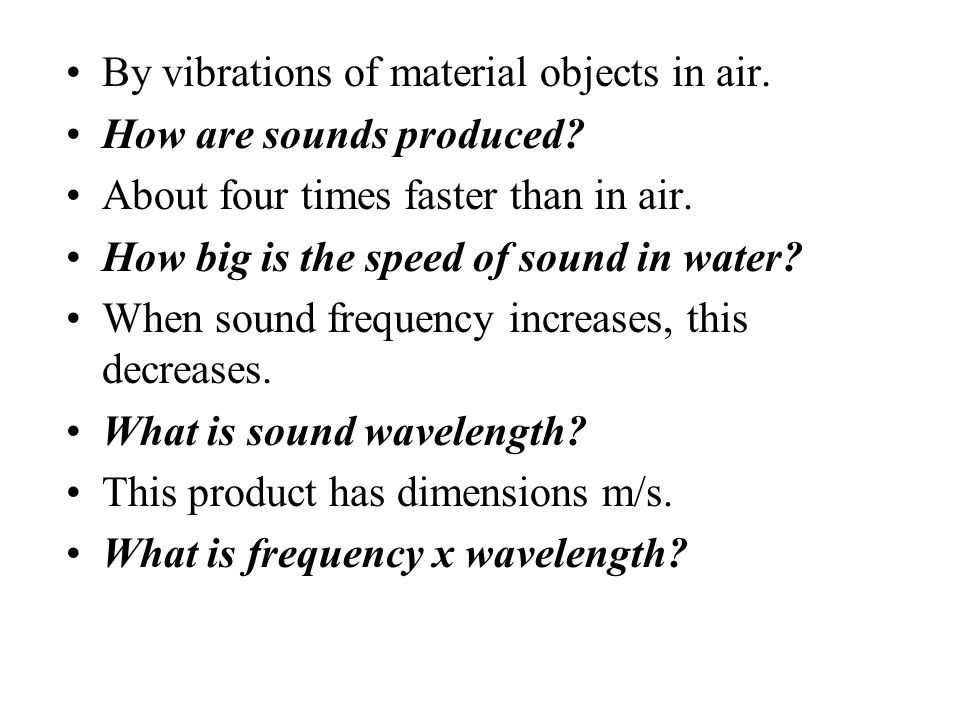 This is the sound of a cracking whip, or supersonic bullet. What is a sonic boom? This term refers to the distance from midpoint of a wave to crest (o