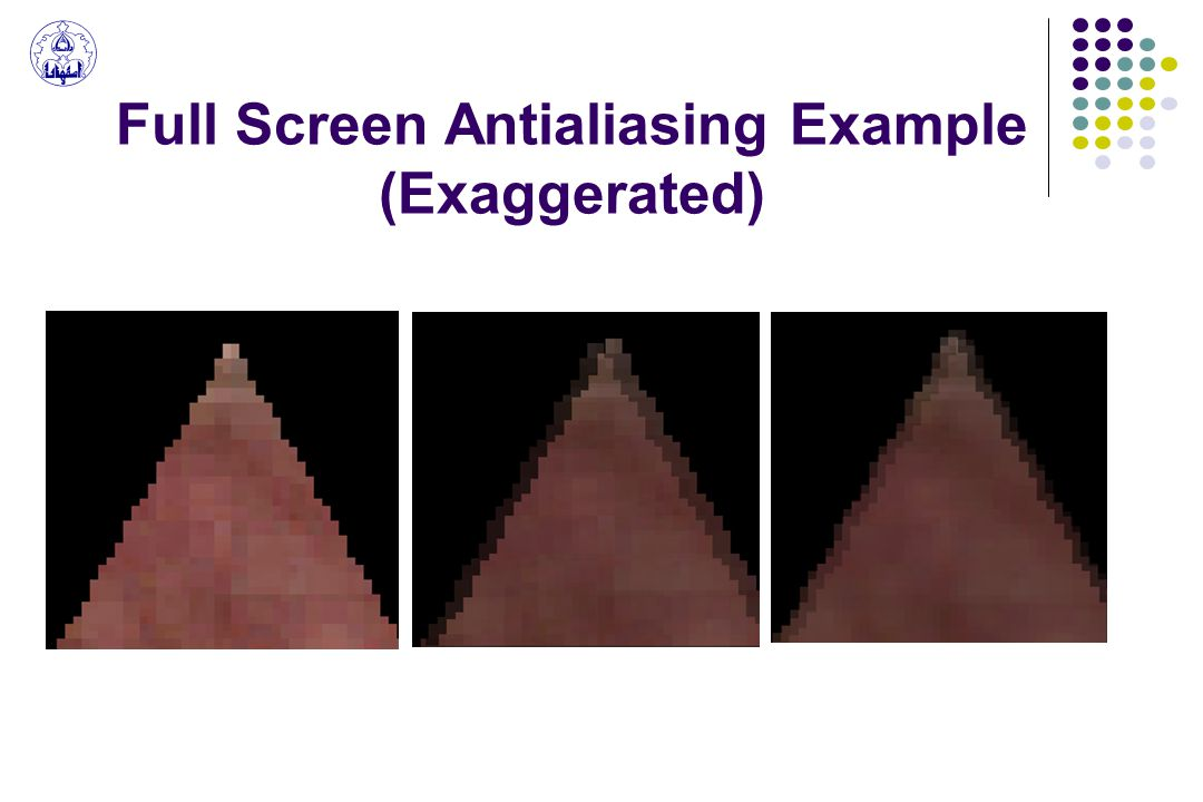 Full Screen Antialiasing Example (Exaggerated)