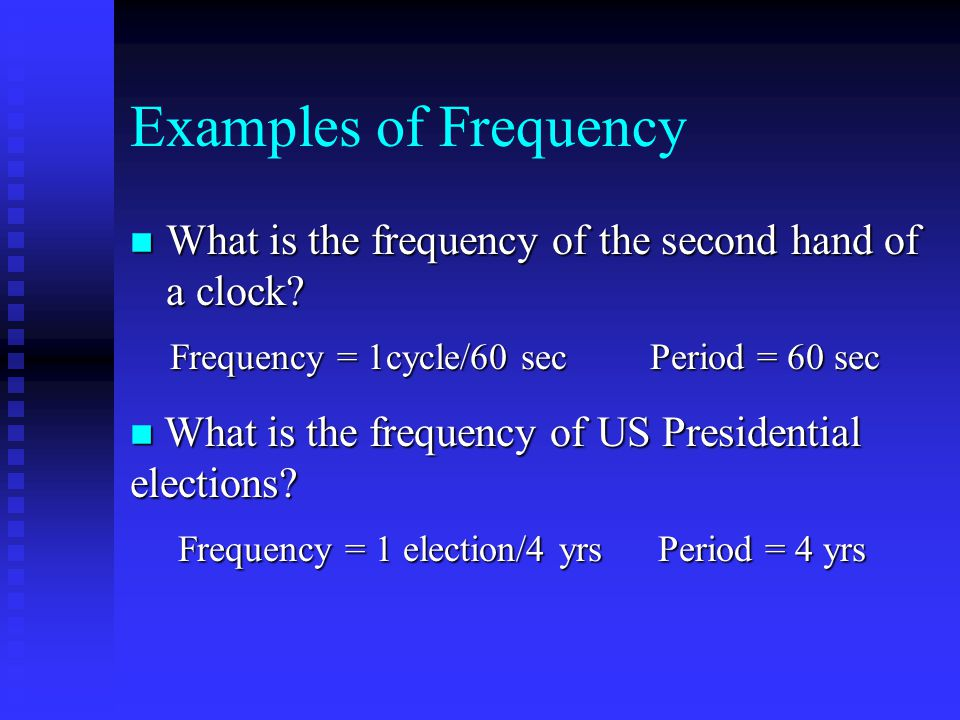 Standing Waves Change the frequency in a standing wave and more nodes/antinodes appear in the event
