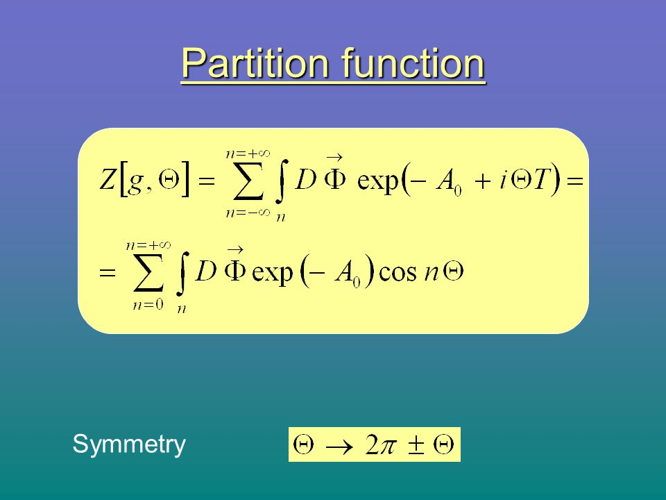 Partition function Symmetry