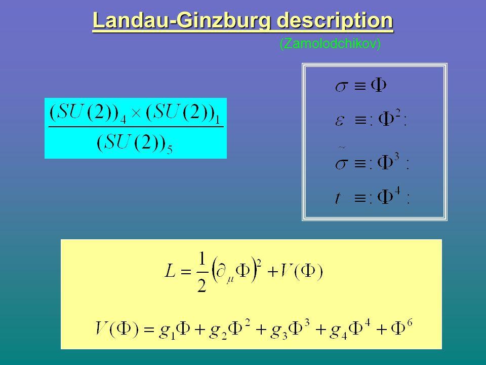 Landau-Ginzburg description (Zamolodchikov)