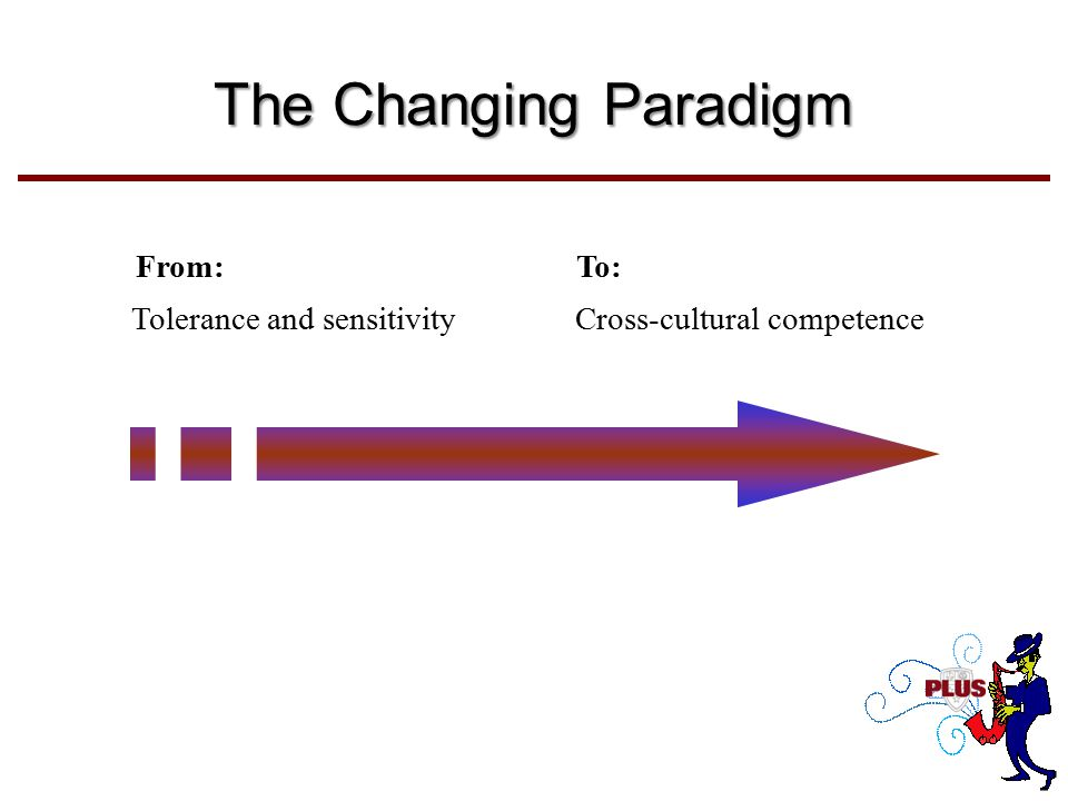 From:To: Tolerance and sensitivity Cross-cultural competence The Changing Paradigm