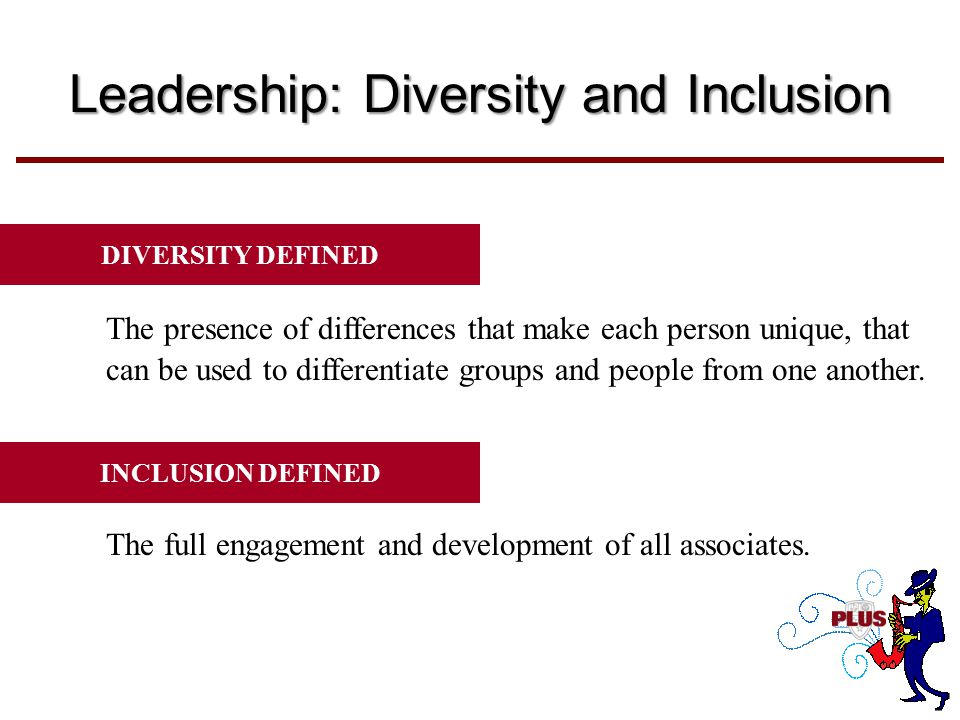 Diversity is the mix...... Inclusion is making the mix work