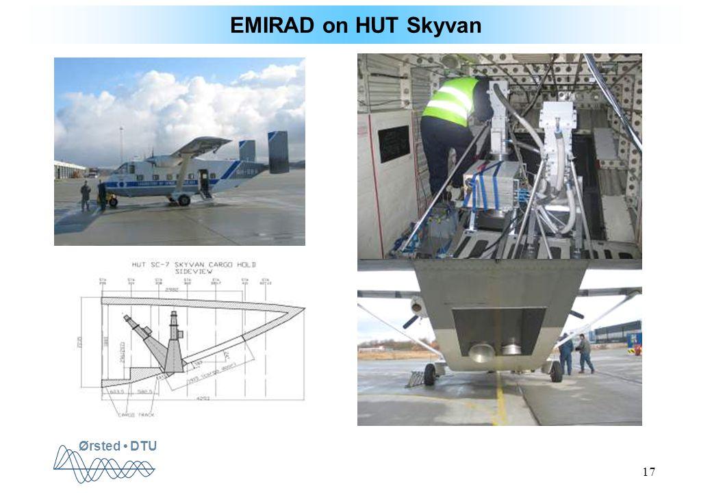 Ørsted DTU 17 EMIRAD on HUT Skyvan