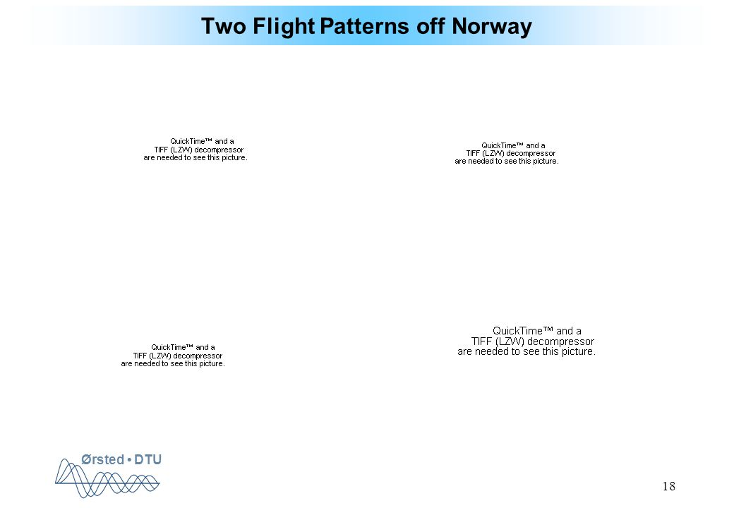 Ørsted DTU 18 Two Flight Patterns off Norway