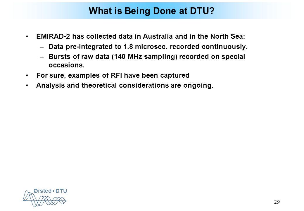 Ørsted DTU 29 What is Being Done at DTU.
