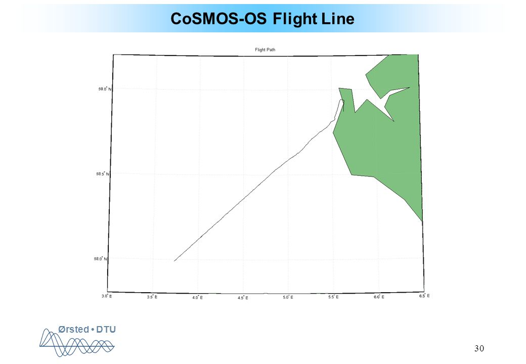 Ørsted DTU 30 CoSMOS-OS Flight Line