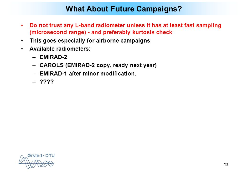 Ørsted DTU 53 What About Future Campaigns.