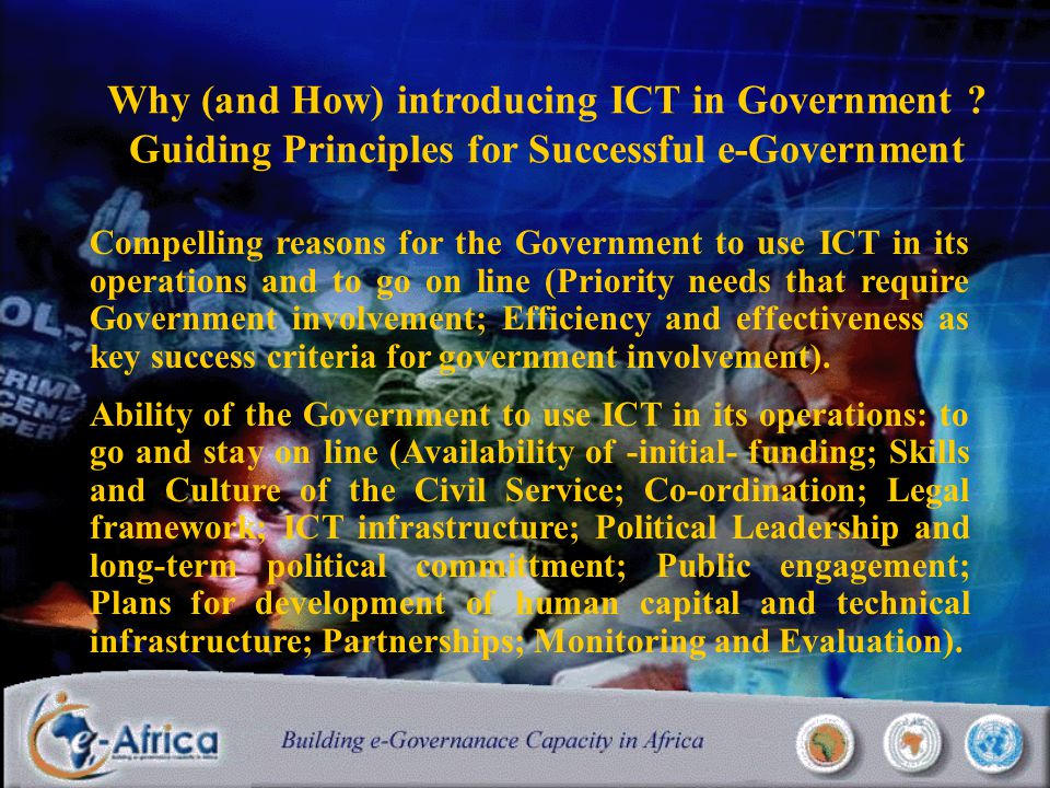 Why (and How) introducing ICT in Government .