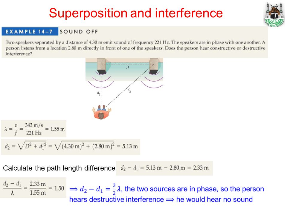 Calculate the path length difference