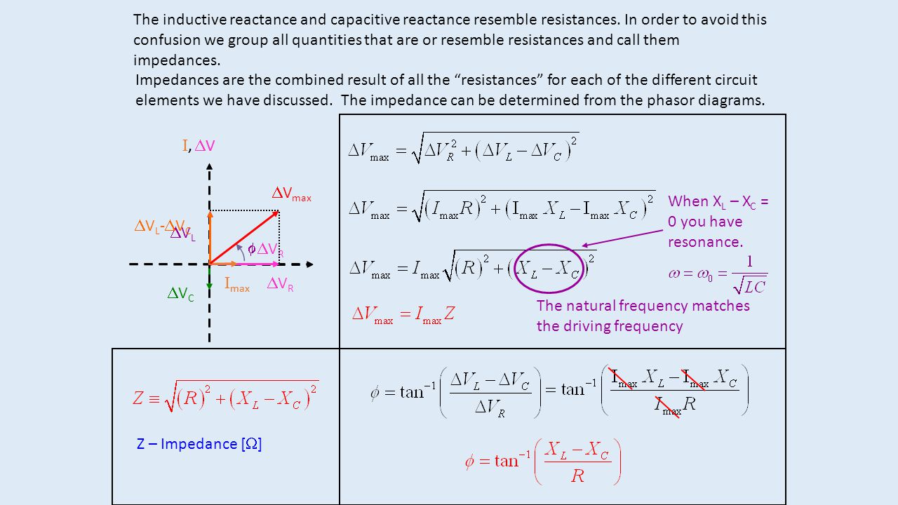 The inductive reactance and capacitive reactance resemble resistances. In order to avoid this confusion we group all quantities that are or resemble r