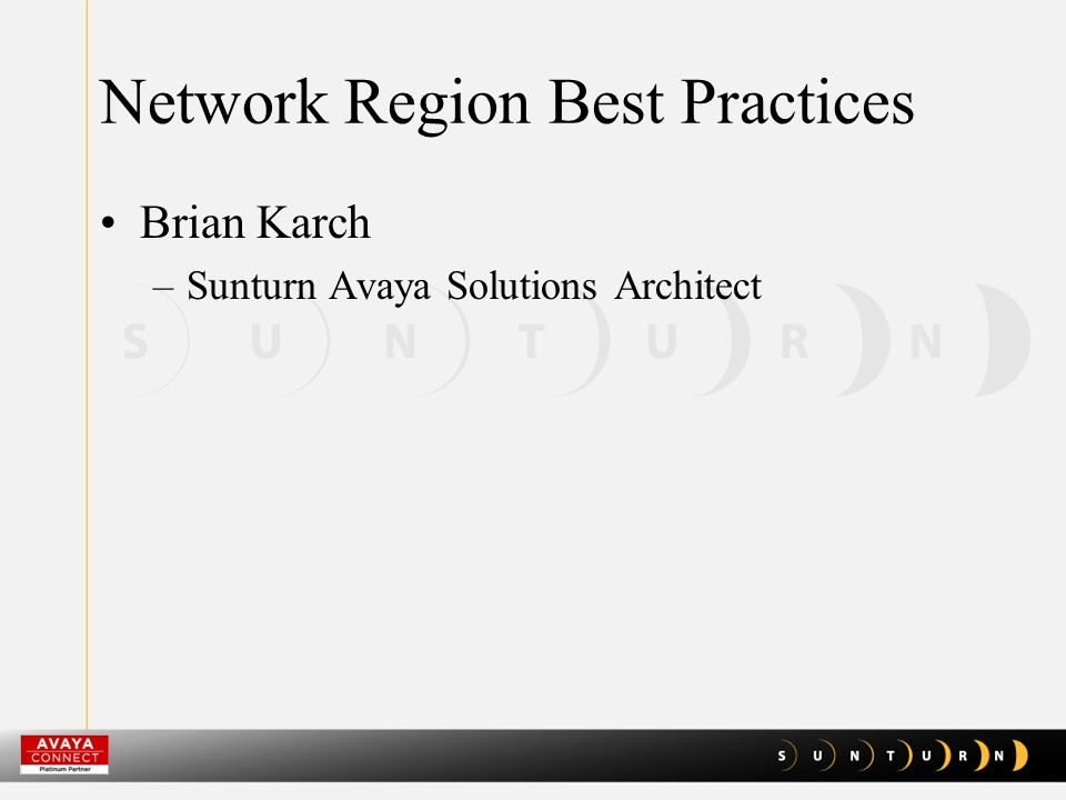 Network Region Best Practices PBX moving from TDM to IP and SIP PBX is an Application on the LAN / WAN In General … –PBX installed with Default Values (TDM) –Needs to be re-designed and Customized for the actual Network