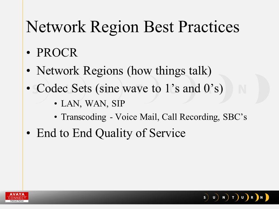Network Region Best Practices IP Network Map Media Gateway Controller List Alternate Gatekeeper List Port Networks and TN Circuit Packs