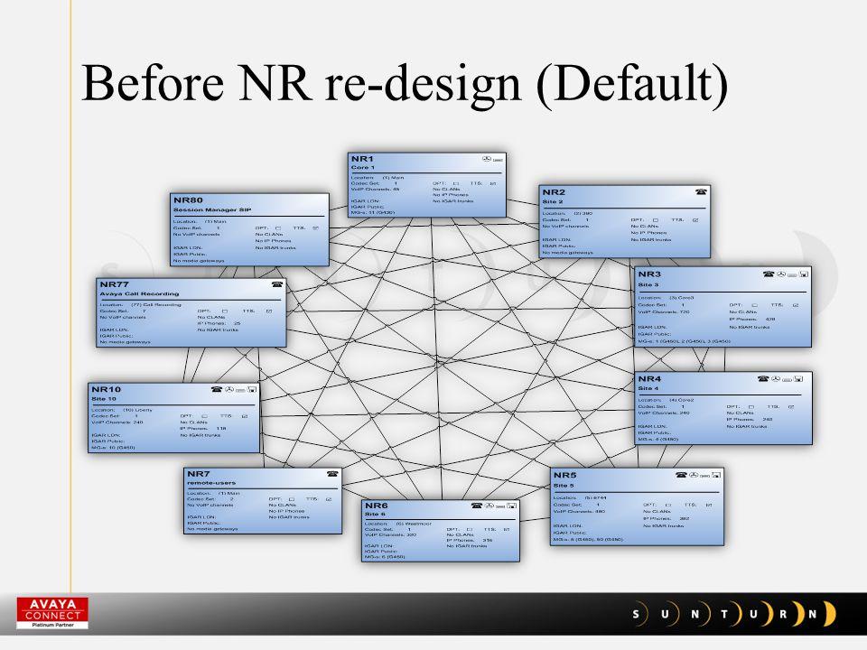 After NR re-design