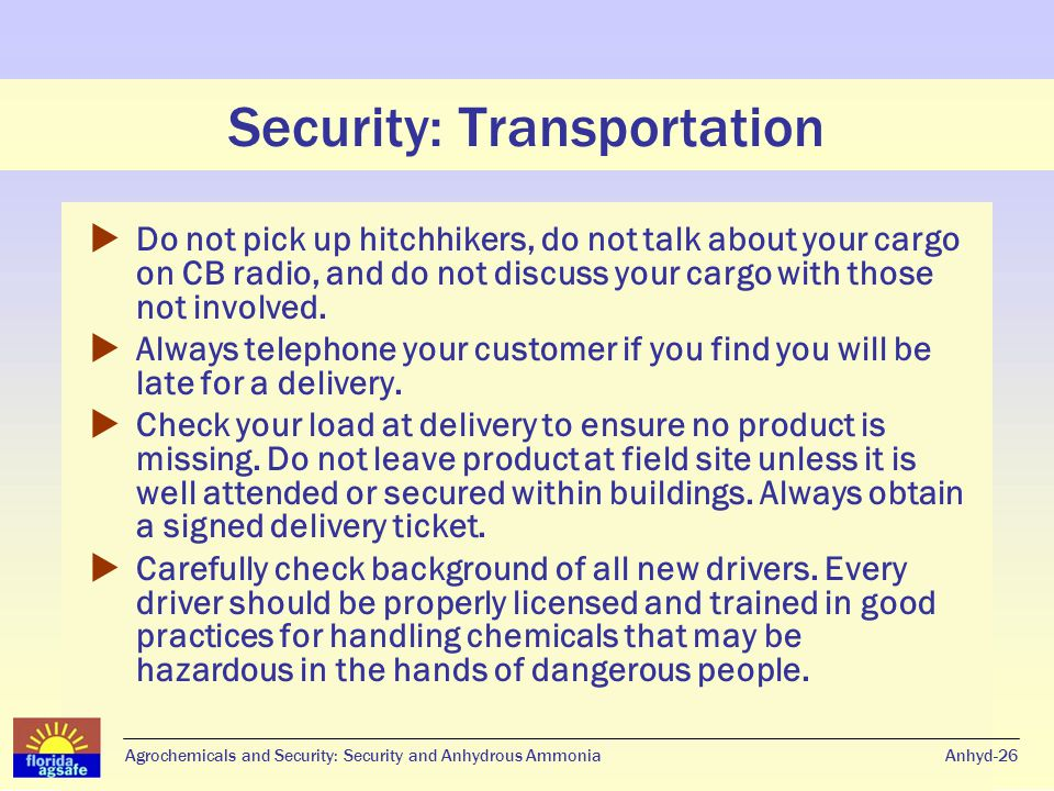 Security: Personnel Do you know your employees.Anhyd-27 Do you know who has access.