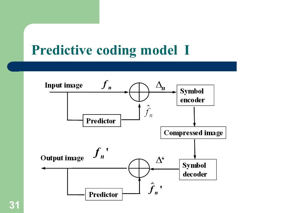 Predictive coding model I 31