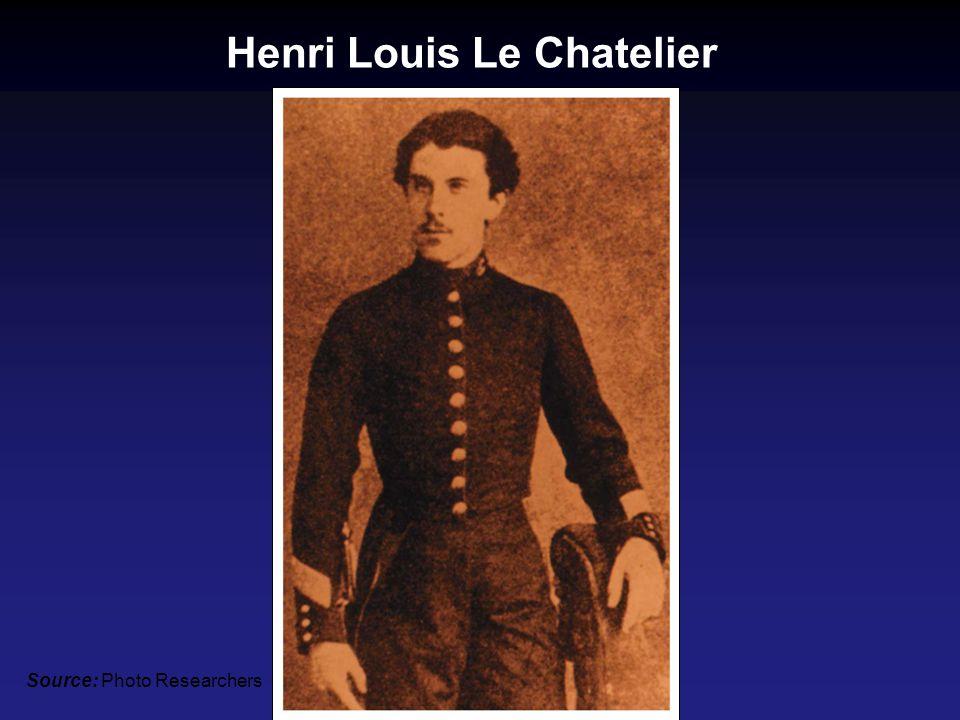 Henri Louis Le Chatelier Source: Photo Researchers