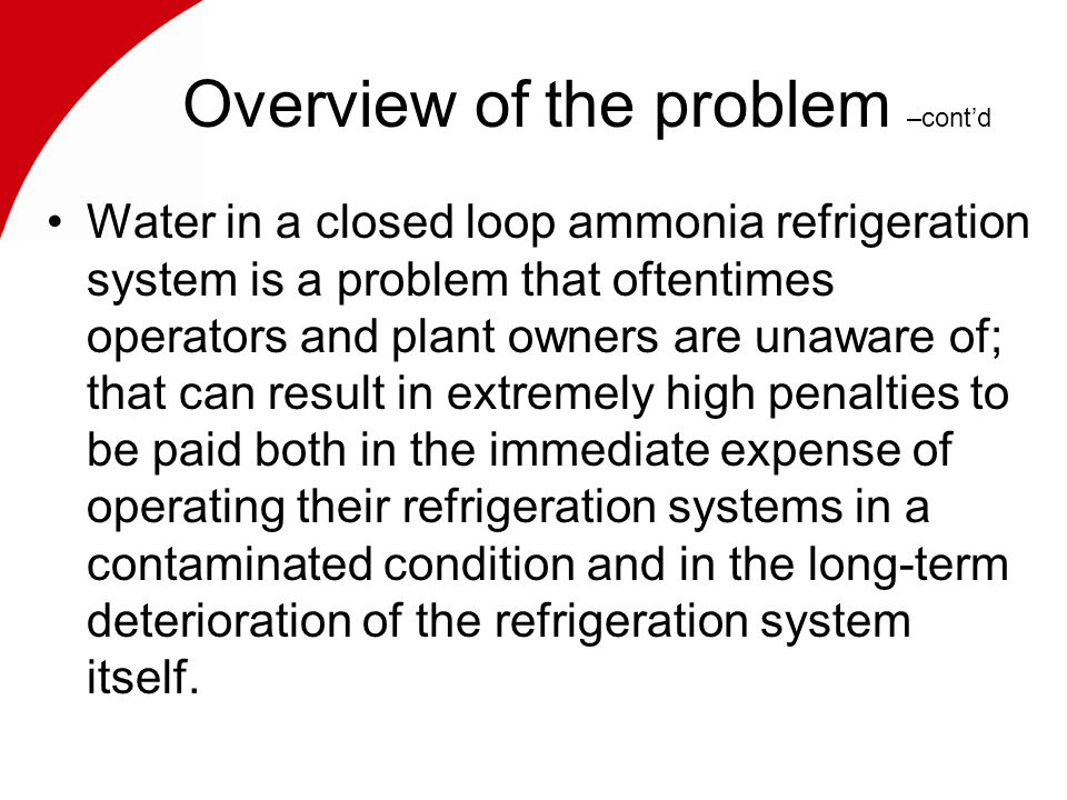 General causes & effects as it concerns the refrigeration system & components.