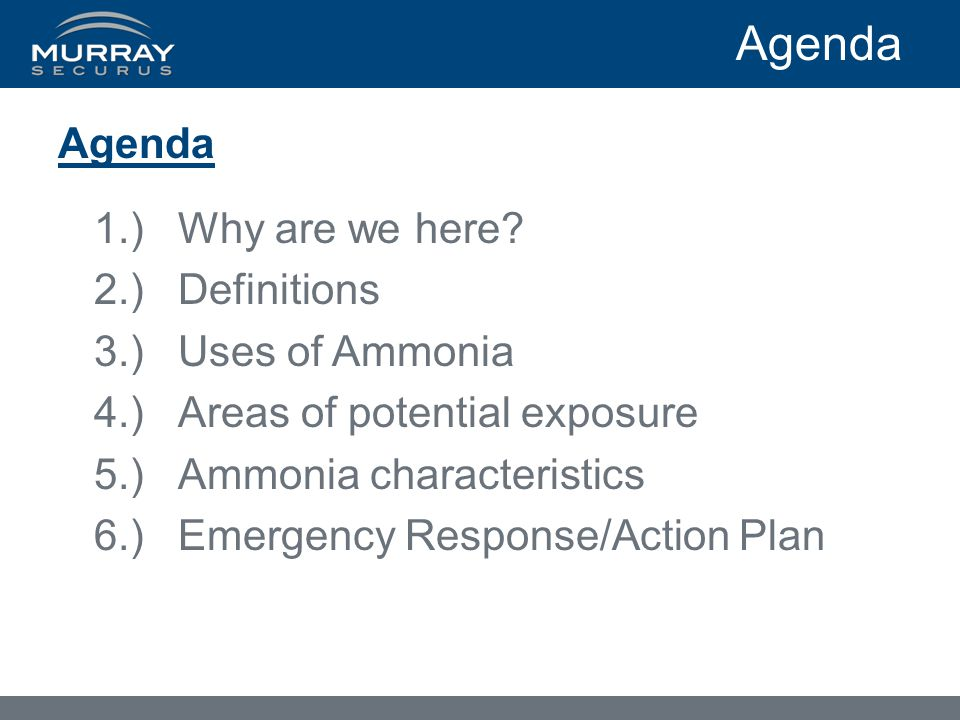Agenda 1.)Why are we here.