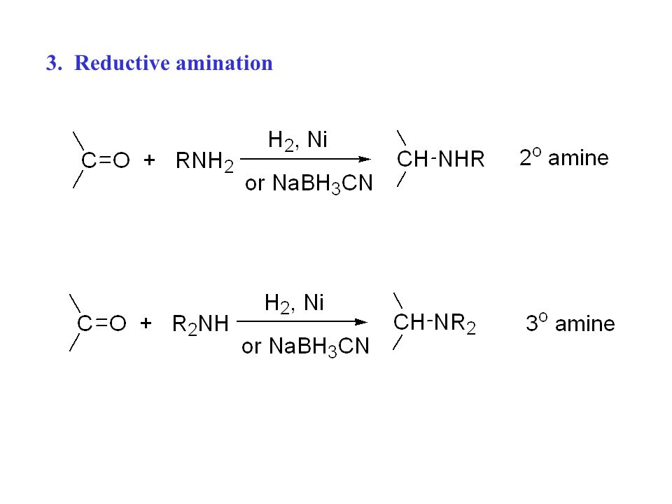 3. Reductive amination