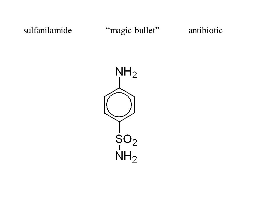 sulfanilamide magic bullet antibiotic