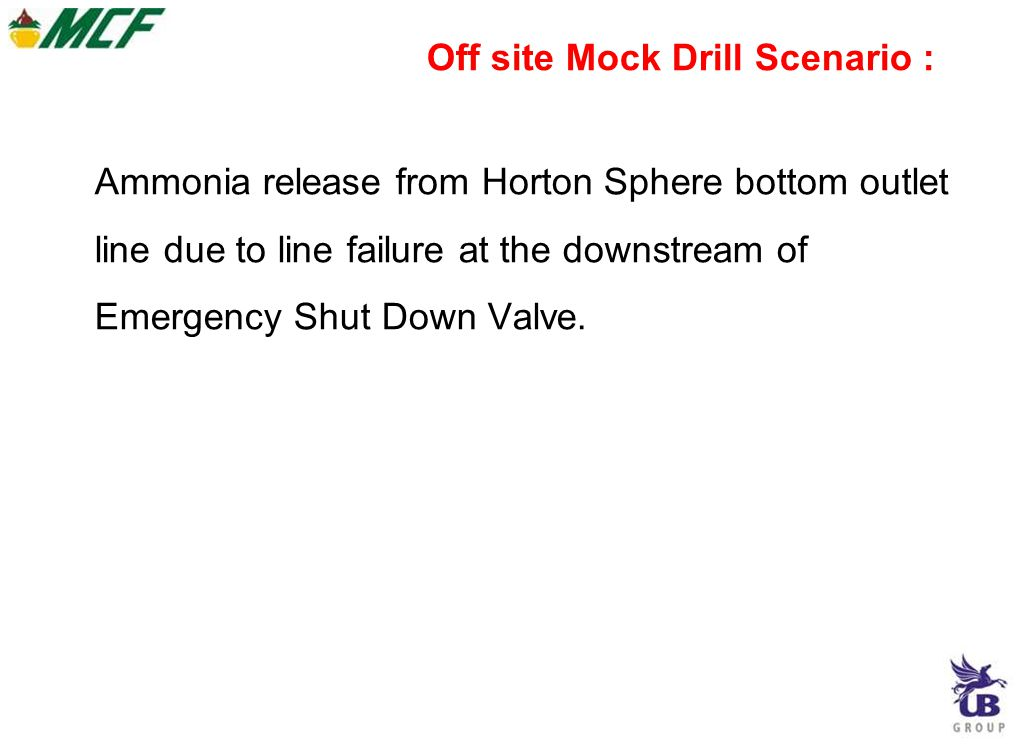 Ammonia release from Horton Sphere bottom outlet line due to line failure at the downstream of Emergency Shut Down Valve.
