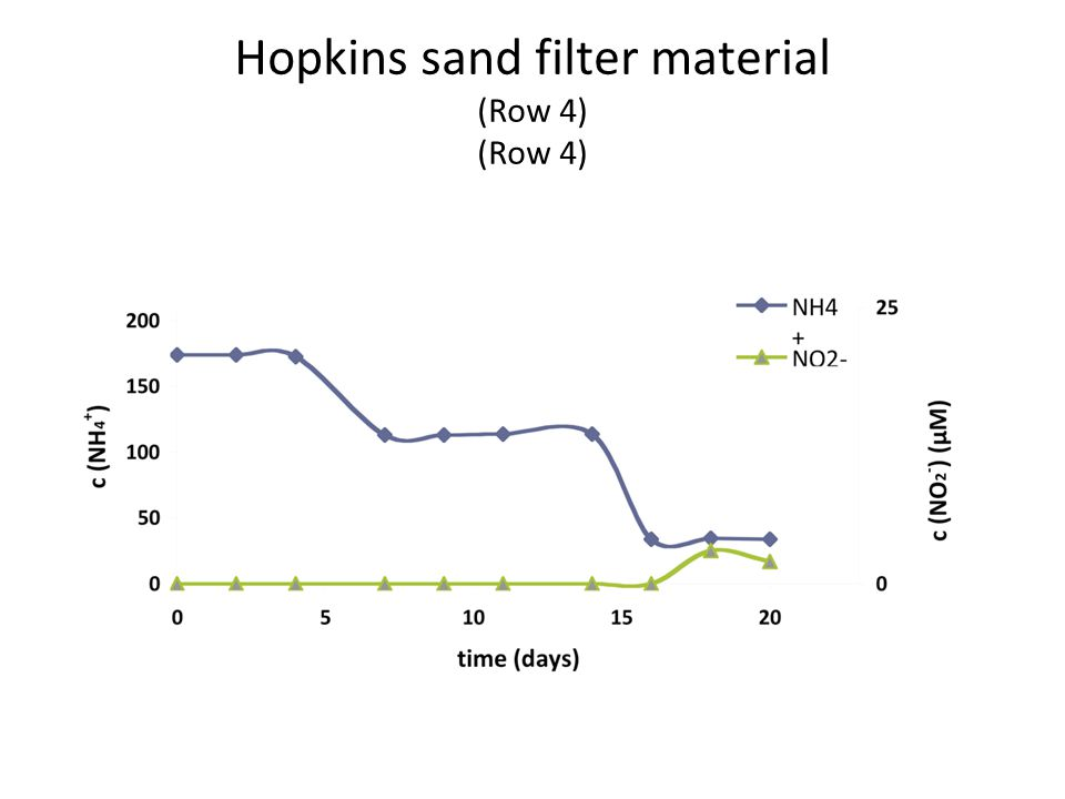 Hopkins sand filter material (Row 4) (Row 4)