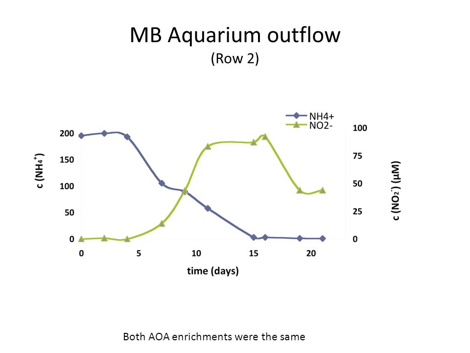 MB Aquarium outflow (Row 2) Both AOA enrichments were the same