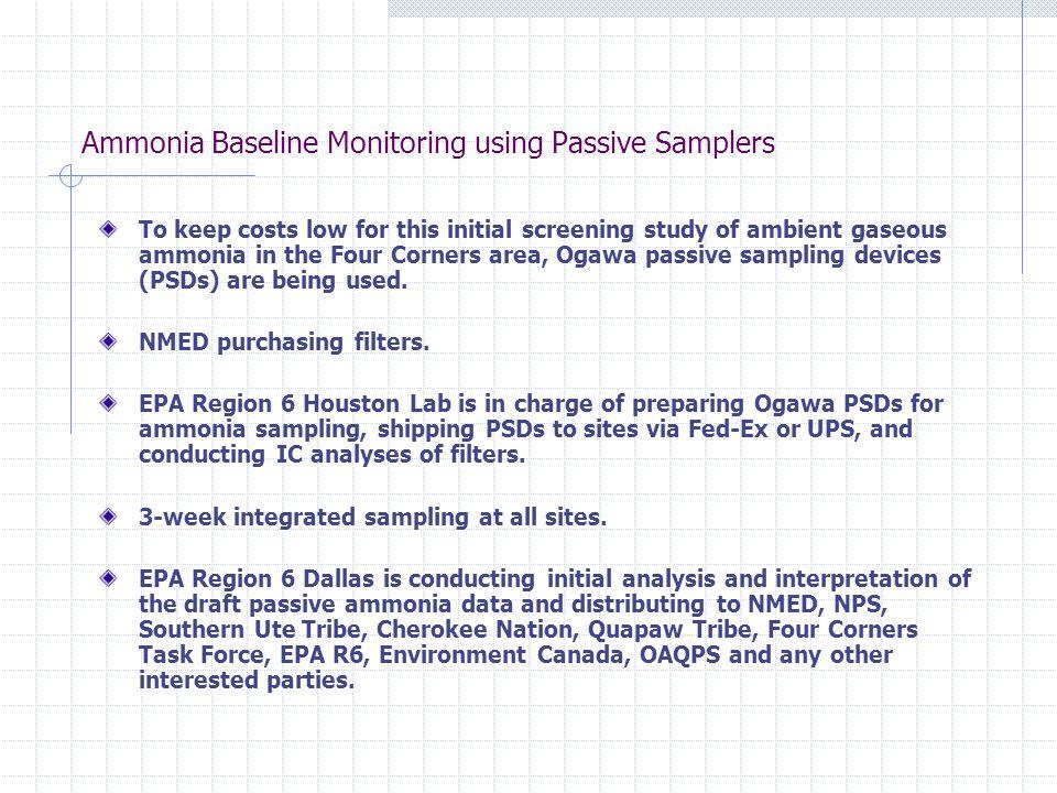 Ammonia Passive Samplers - Pictures