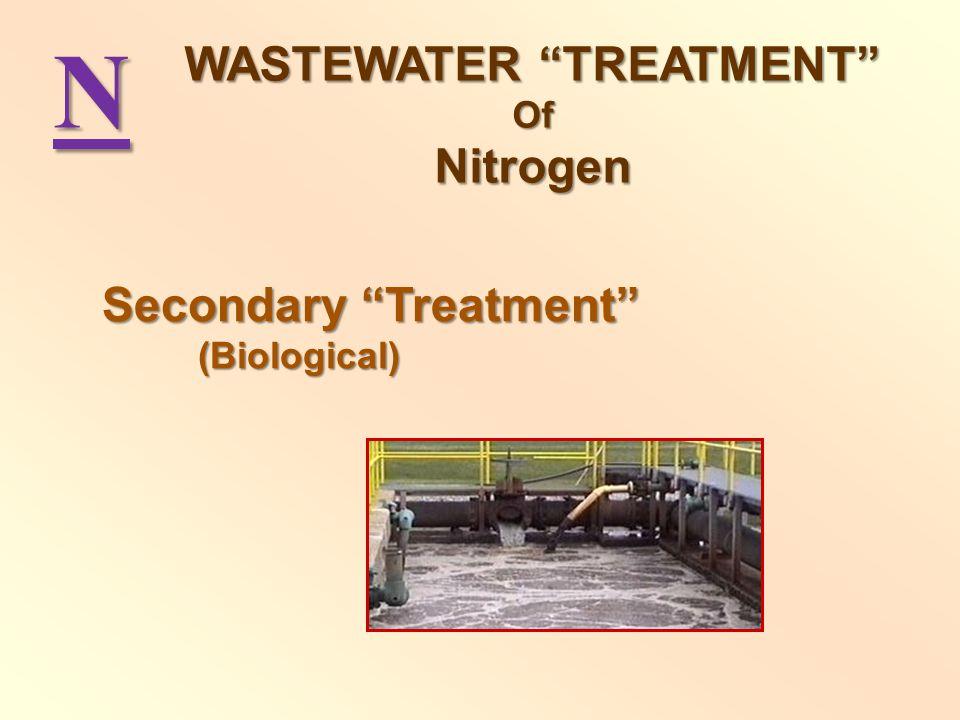 N Secondary Treatment (Biological) WASTEWATER TREATMENT OfNitrogen